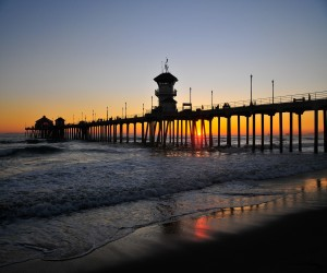 Comfort Inn & Suites Huntington Beach Attraction - Huntington Beach Pier during sunset